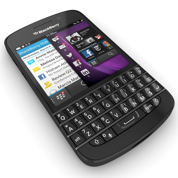 BlackBerry Q10 SQN100-1 vs  BlackBerry Z10 STL100-1 - Phonegg
